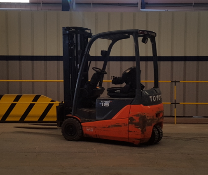 USED ELECTRIC 1.8 TON FORKLIFT 8FBEKT18